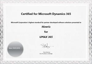 Itineris 365 certificate